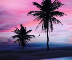 arte, playa, and atardecer image