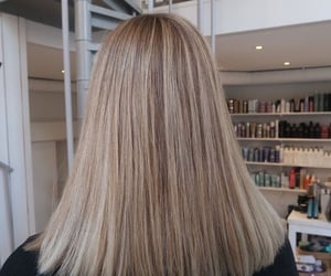 blonde, girl, and straight hair image