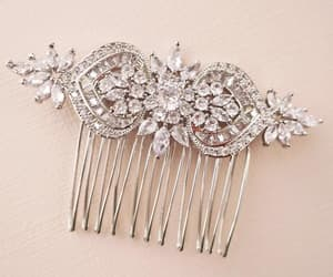 bridal jewelry, etsy, and hair comb image