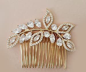 etsy, hairpiece, and cubic zirconia image