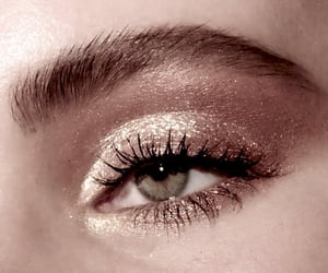 makeup, glitter, and gold image
