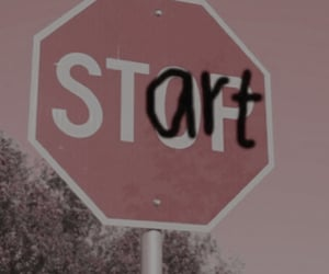 start, stop, and pink image