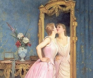 art, mirror, and painting image