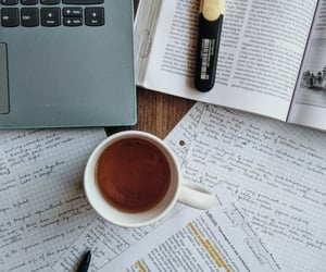 coffee, studying, and college image