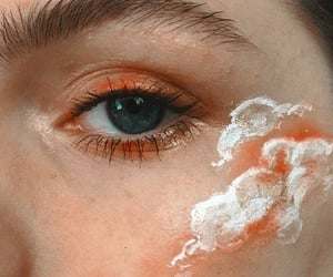 makeup, aesthetic, and clouds image