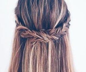 braid, hair, and long hair image