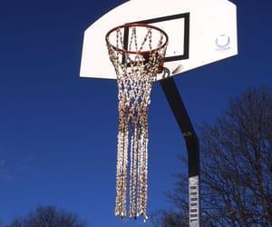 basket, Basketball, and blue image