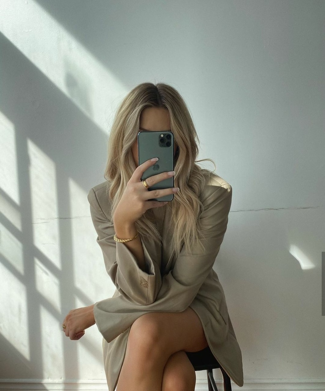 blonde, fashion, and suit suits image