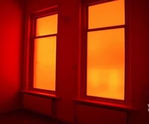 orange, aesthetic, and window image