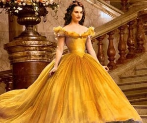 aesthetic, yellow, and lily james image