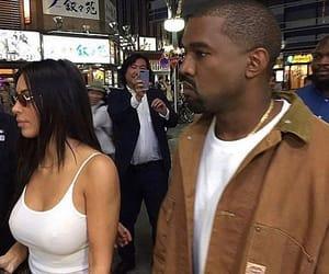 kanye west, kim kardashian, and kanye image