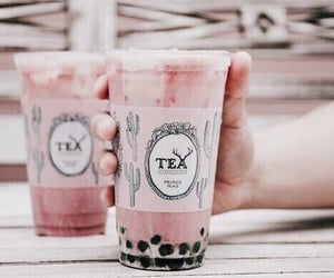 pink, drink, and tea image