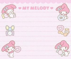 japanese, my melody, and note image