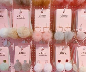 chic, earrings, and fluffy image