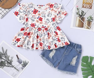 baby girl, dress top, and summer outwear image