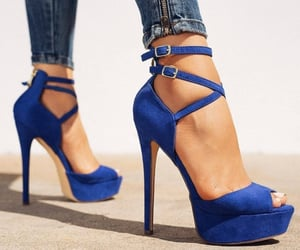 blue, style, and chic image