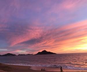 playa, méxico, and sunset image