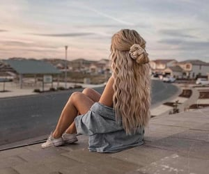 girl, hair, and hair goals image