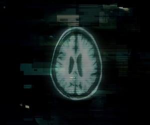brain, dark, and green image