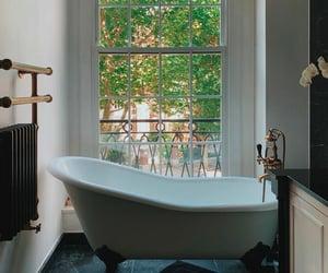 bathroom, bathtub, and home image