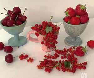 red, cherry, and strawberry image