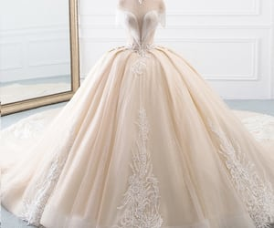wedding dress, wedding gown, and wedding outfit image