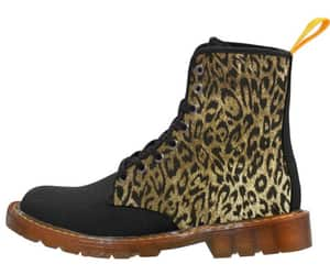 combat boots, leopard print, and punk fashion image