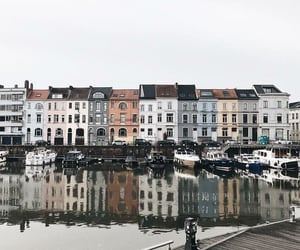 house, city, and water image