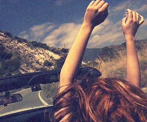 girl, free, and car image
