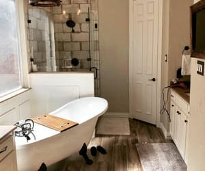 bathroom, house, and rustic image