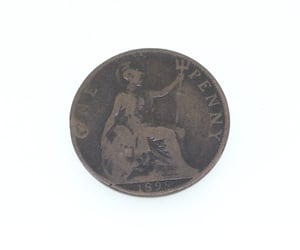 antique, british, and penny image