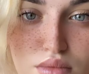 blond, freckles, and me image