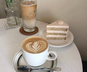 coffee, aesthetic, and cake image