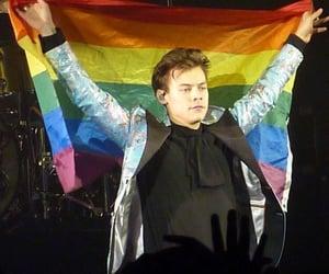Harry Styles, rainbow, and icon image