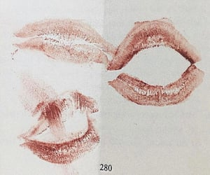 kiss, lips, and lipstick image