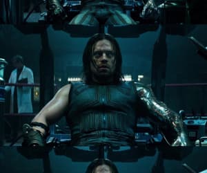 sebastian stan, winter soldier, and bucky barnes image