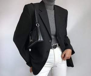 black, chic, and outfit image