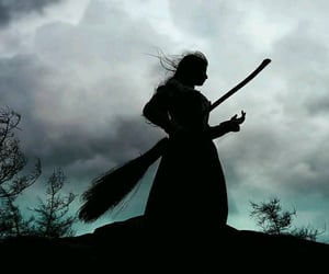 broom and witch image