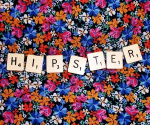 hipster, floral, and scrabble image