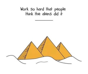 pyramid, quotes, and motivation image
