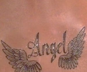 angel, tattoo, and y2k image
