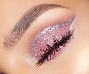beauty, lashes, and fashion image