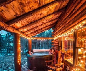 home, jacuzzi, and winter image