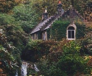 nature, cottage, and house image