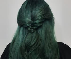 green, hair, and braid image