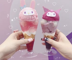 icecream, kawaii, and pink image