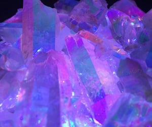 purple, aesthetic, and crystal image