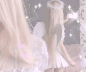 angelic, halo, and girl image