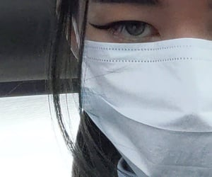 asian, facemask, and edgy image