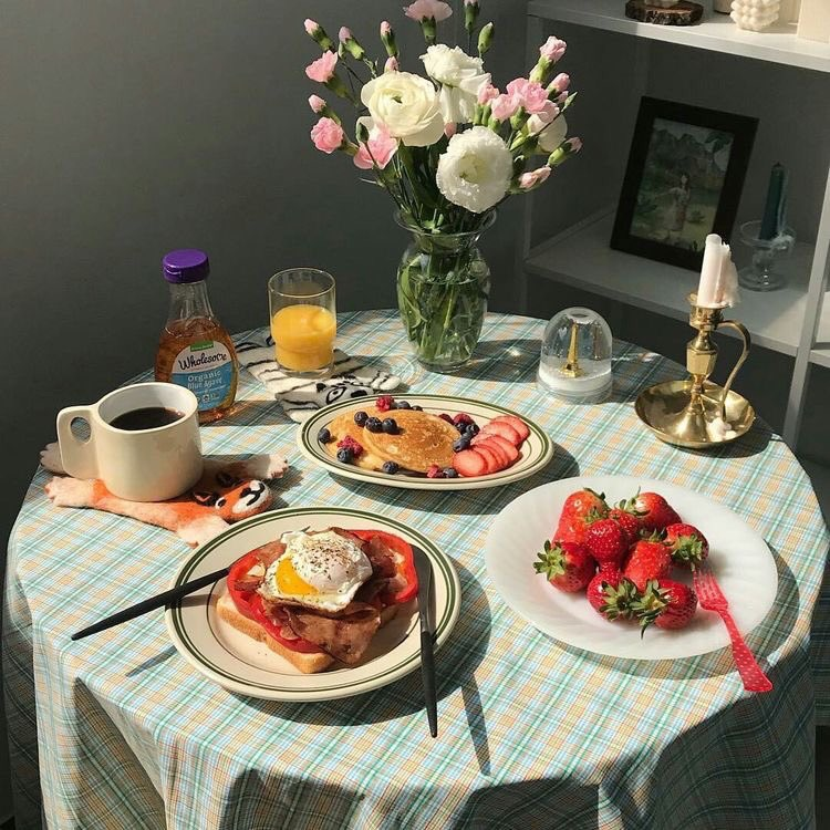 aesthetic and breakfast image
